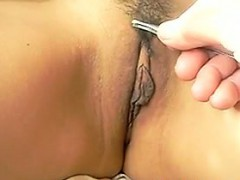 Asian Pussy Getting Hair Pulled From Evenly