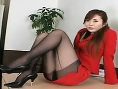Beautiful Asian With Despondent Legs