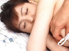 Small korean cock wide her tiny asshole