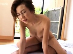 Japanese AV Model is disturbed before sucking and riding slip-up