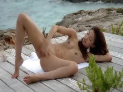 chinese angel teasing by get under one's deep blue sea