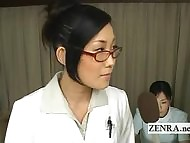 Bizarre milf Japan adulterate strips for medicinal blowjob