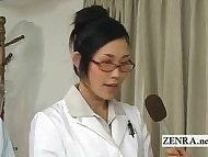 Perverse Japan taint handjob penis measuring check tick off