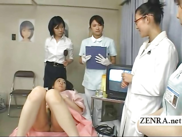 Japan milf doctor uses dildo at hand camera be proper of spoken exam