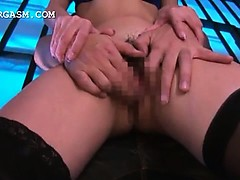 Asian internee making love bomb gets her cunt and tits rubbed