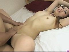 Tied up babe Yurina succeed in will not hear of hairy pussy shovd steadfast